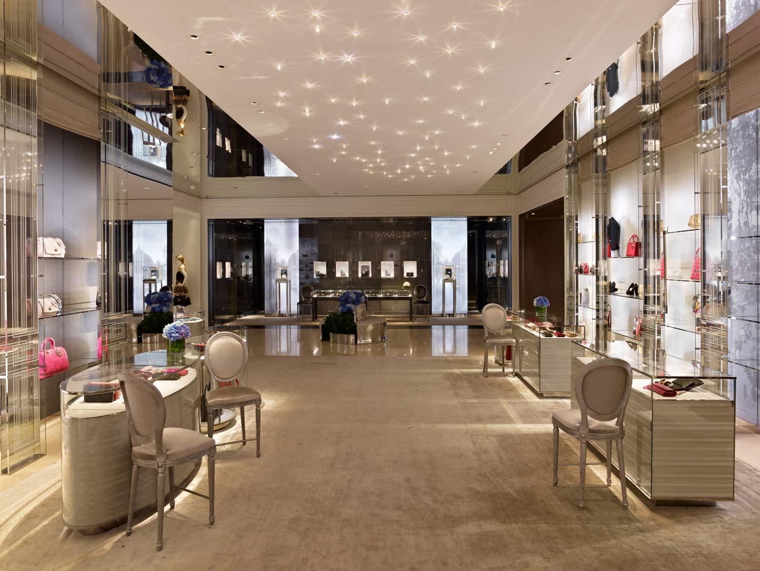 Christian dior boutique beverly hills stellar interior for Boutique interior design
