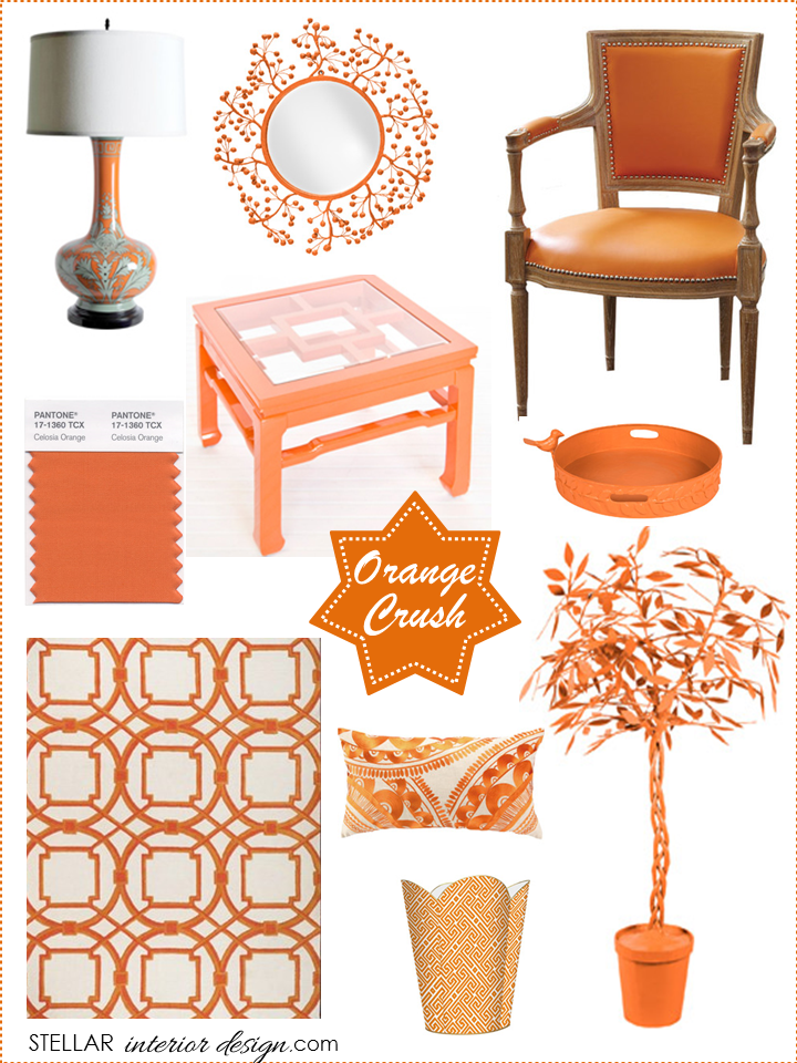 orange home decor stellar interior design