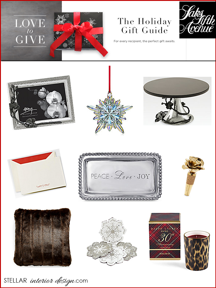 Holiday gift guide 2013 stellar interior design for Christmas gifts for interior designers