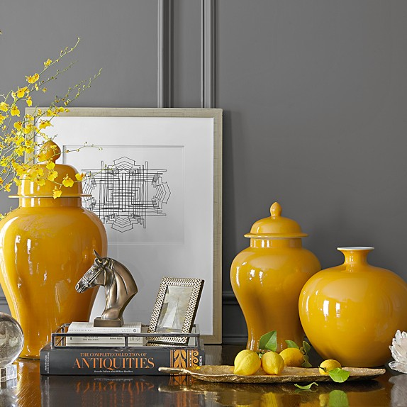 Home decor vases stellar interior design - Home accessories yellow ...