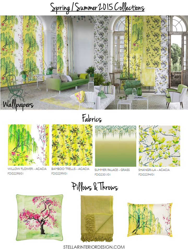 New spring home fabrics wallpapers stellar interior design for Wallpaper home fabrics