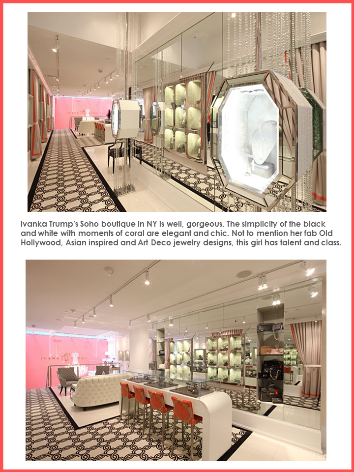 Ivanka Trump Boutique Stellar Interior Design