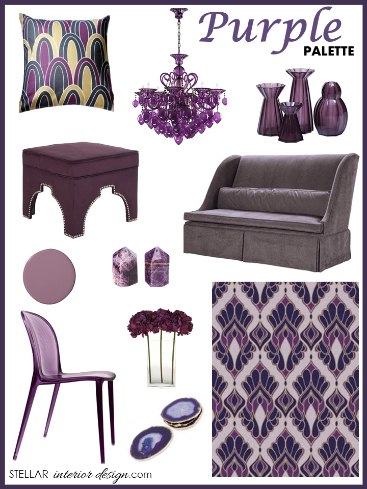 PURPLE Home Decor Stellar Interior Design