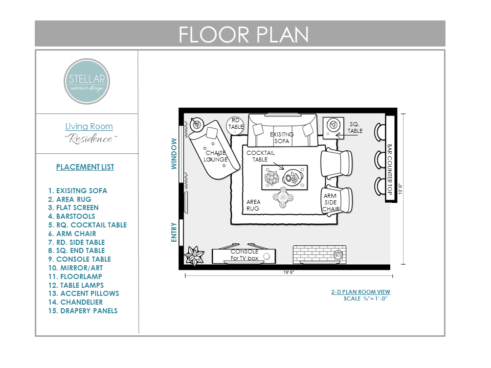 Stellar Interior Design Floorplan
