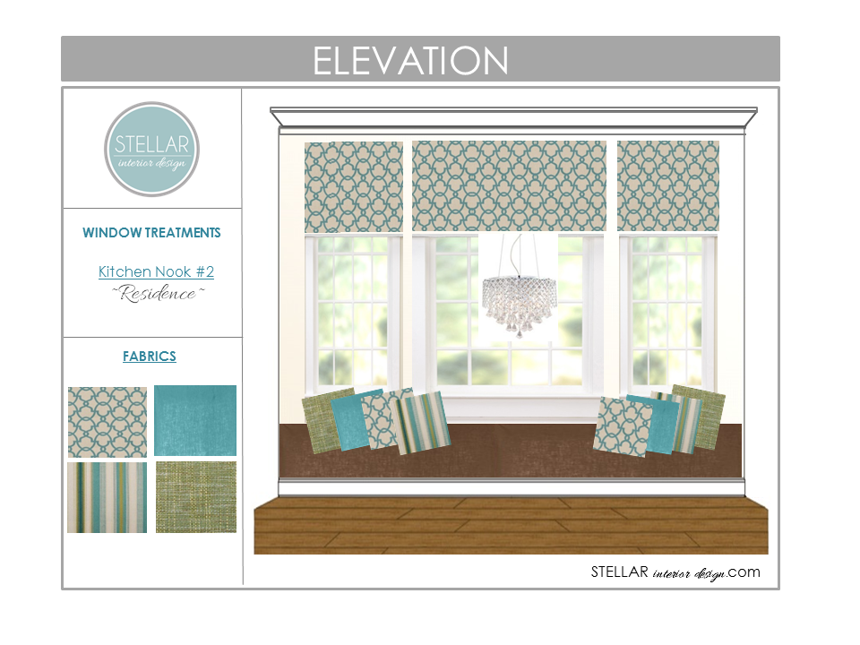 Interior design services or online e design please visit my website - Roman Shade Designs New Client Project Stellar Interior