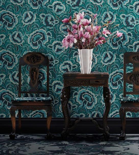 Art deco wallpaper stellar interior design for Catherine interior designer grand designs