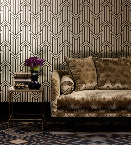 art deco wallpaper stellar interior design