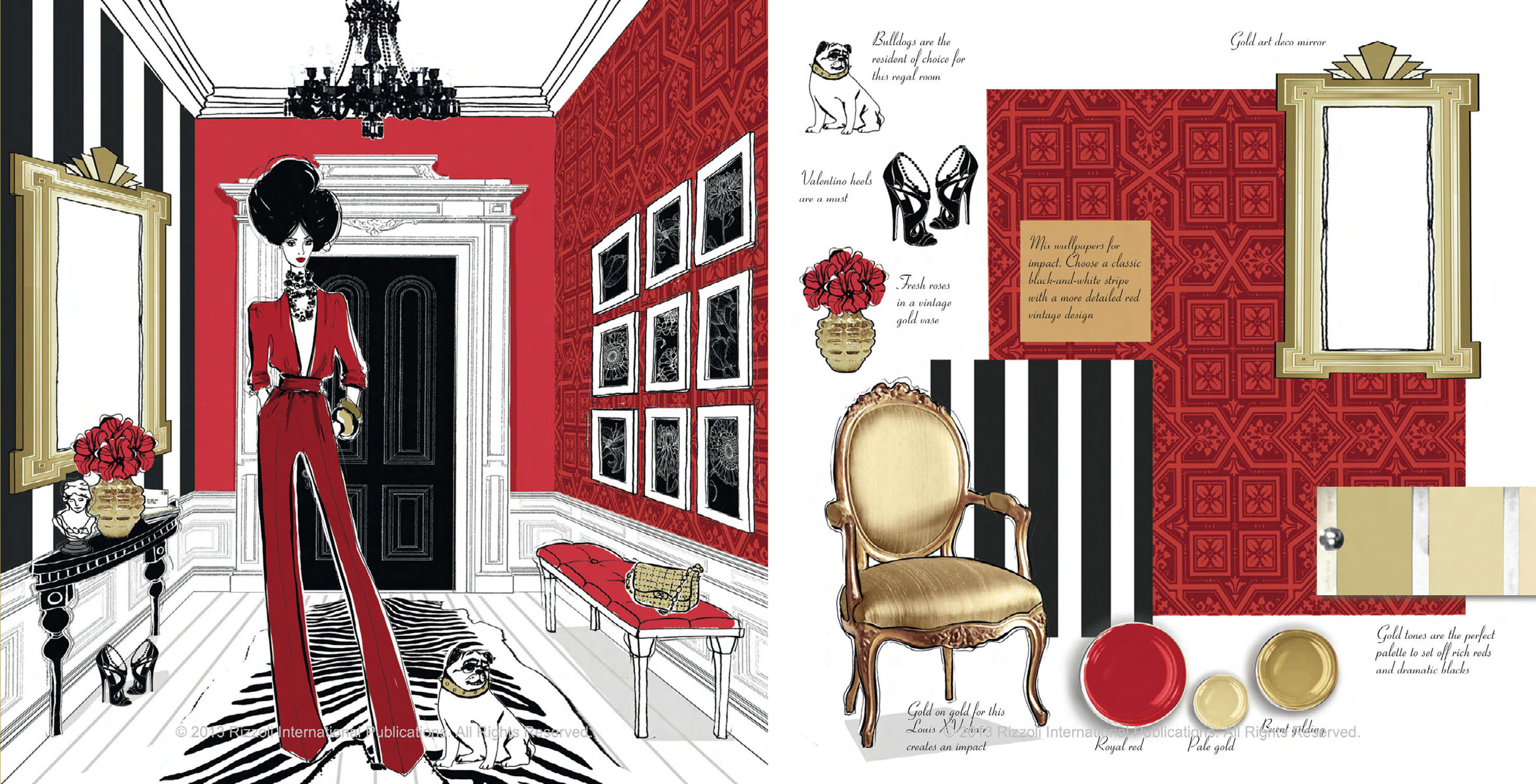 megan hess illustration stellar interior design. Black Bedroom Furniture Sets. Home Design Ideas