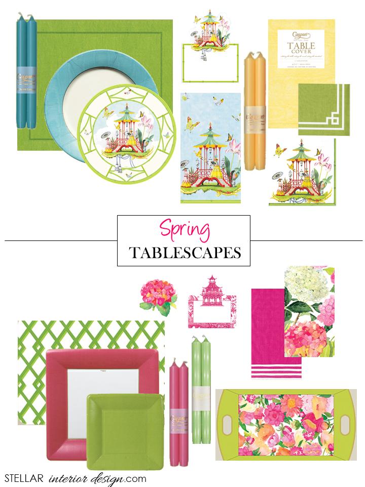 Spring Tablescape I Stellar Interior Design  sc 1 st  Stellar Interior Design & Paper Plates and Napkins: Caspari - Stellar Interior Design