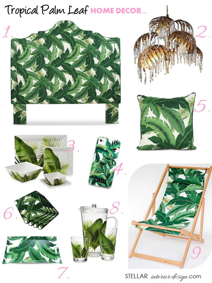 Tropical Palm Leaf Decor Stellar Interior Design