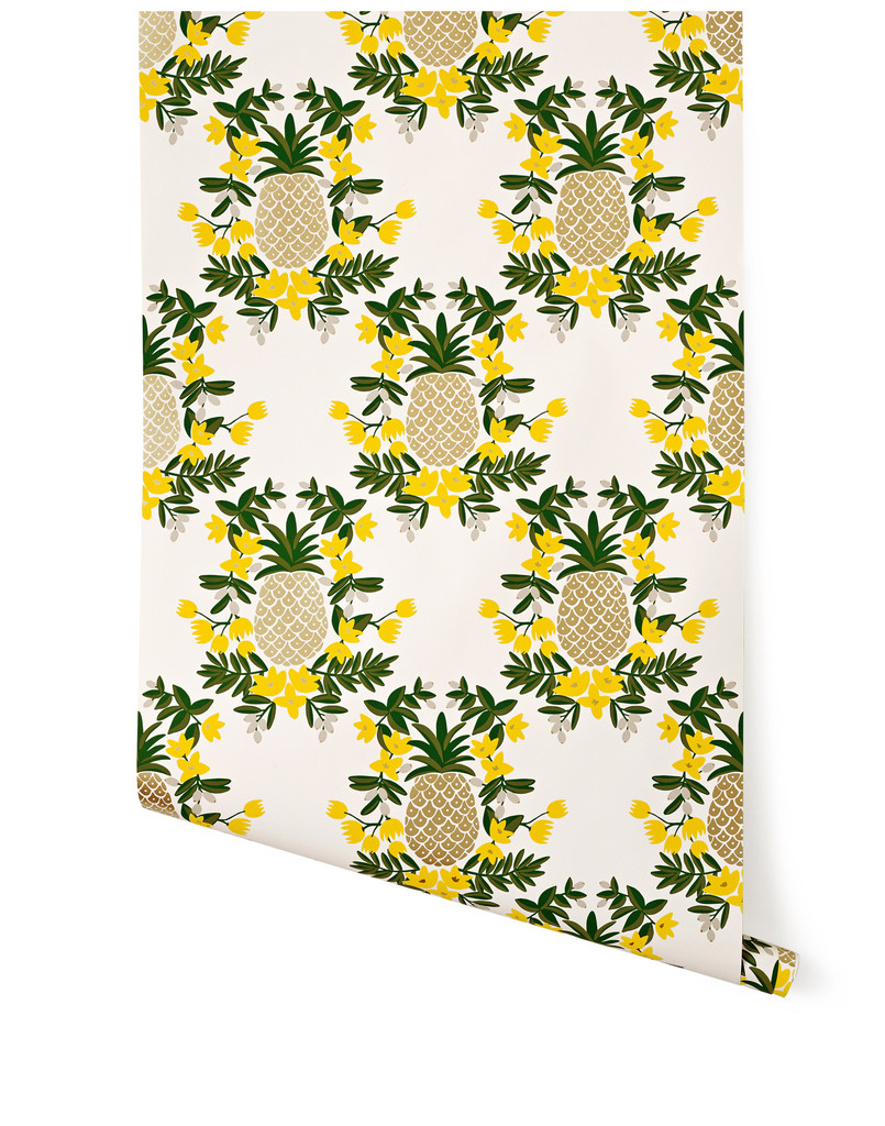 Hygge West Pineapple Wallpaper-Stellar Interior Design