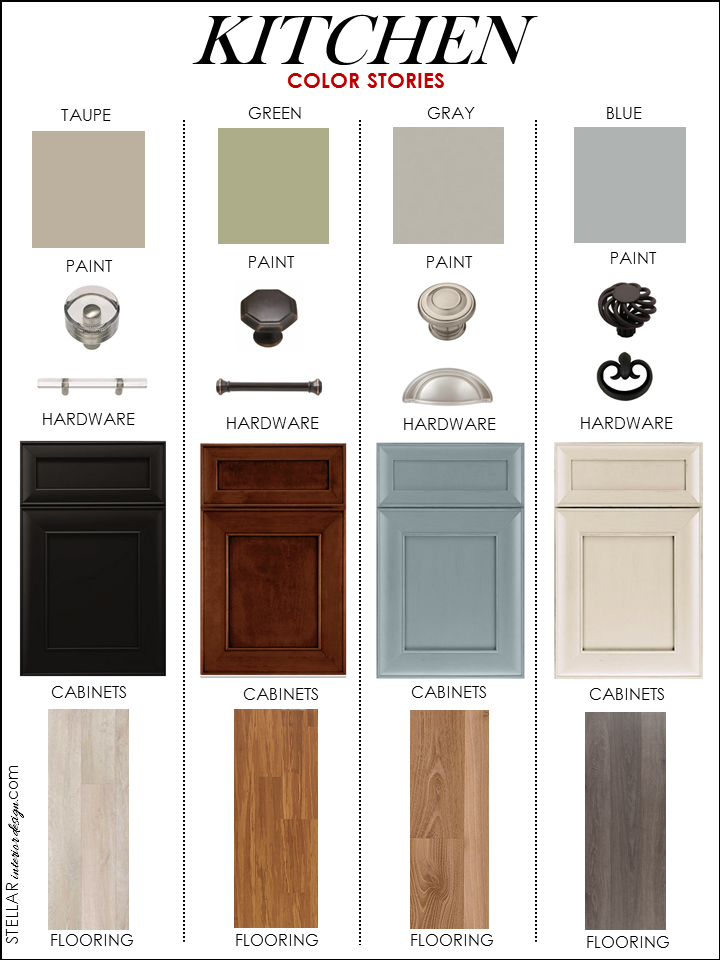 Kitchen Palettes- Stellar Interior Design