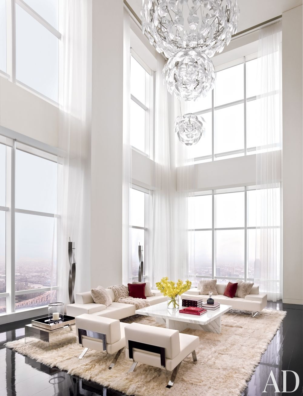White living room ideas stellar interior design for Beautiful contemporary living rooms