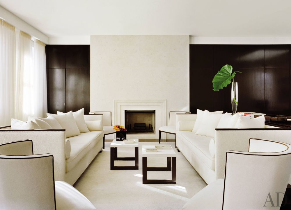 AD Living Room Black White