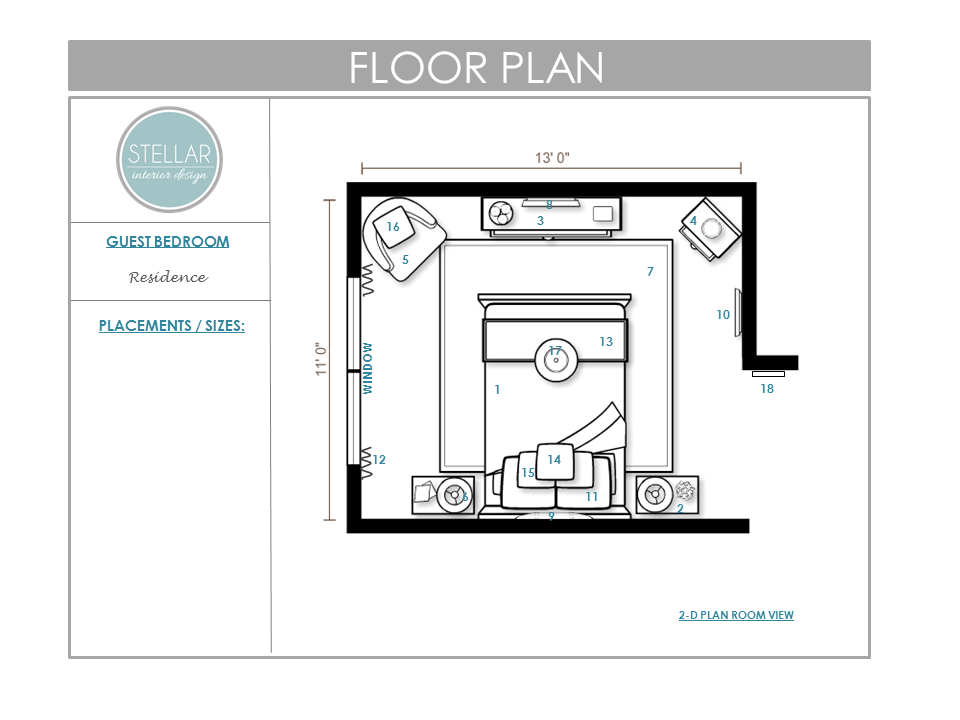 Stellar Interior Design Bedroom Floorplan