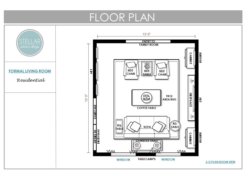 Living Rm Floorplan Stellar Interior Design