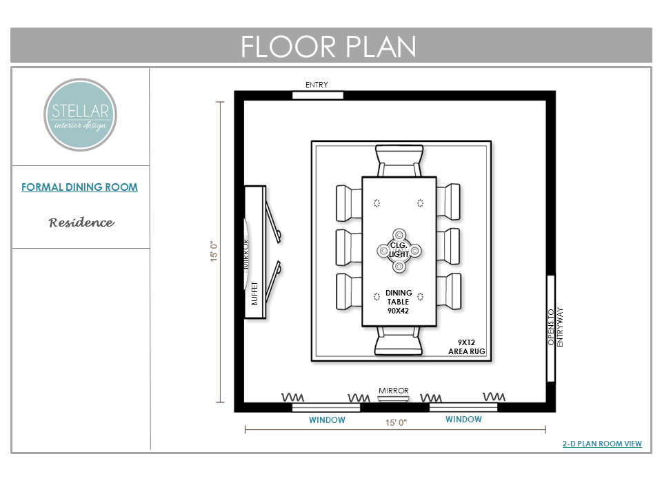E Interior Design Dining Room Floorplan
