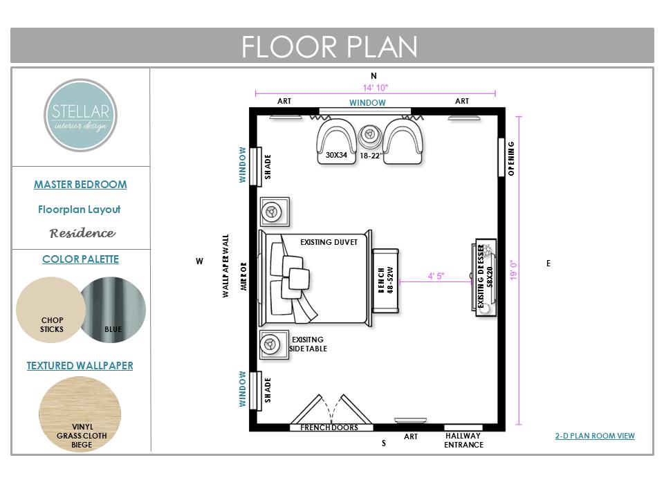E Deisgn Bedroom Floorplan Stellar Interior Design