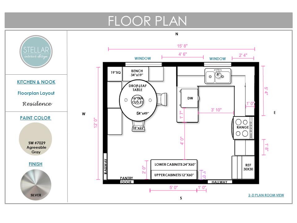 Floorplan e design kitchen by stellar interior design