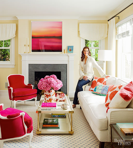 Brooke Shileds Living Room BHG